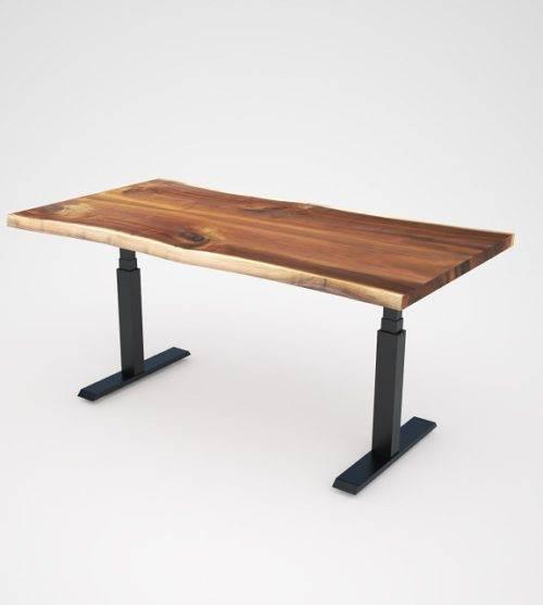 實木電動升降桌