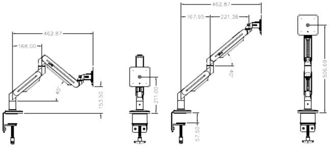 螢幕支撐架 (單螢幕,重量輕)