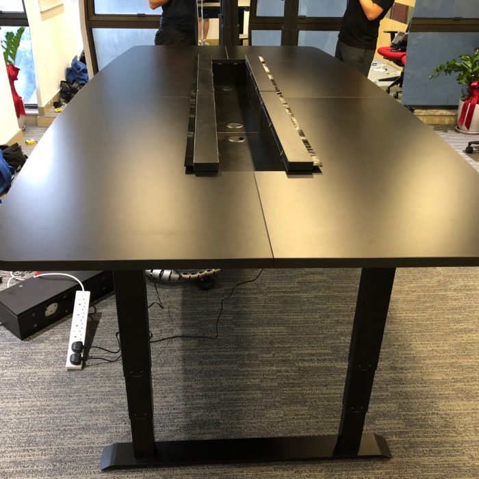 Height Adjustable 4 legged Standing Conference Table