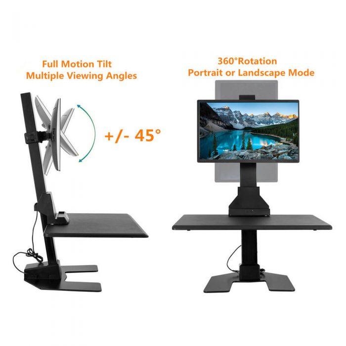 雙螢幕電動桌上升降桌