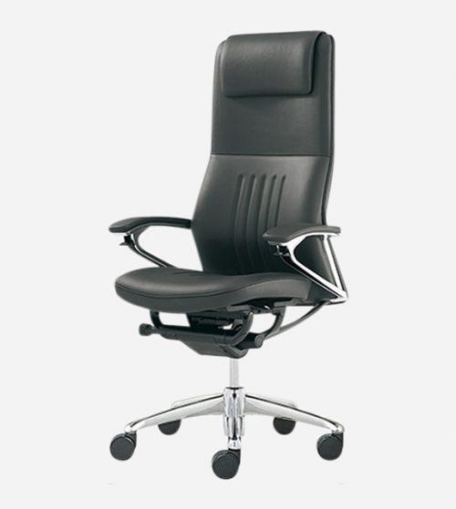 Okamura Legender 日本製真皮大班椅 -超高背